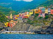 The Cinque Terre area is a very popular tourist destination. (italy cinque terre )