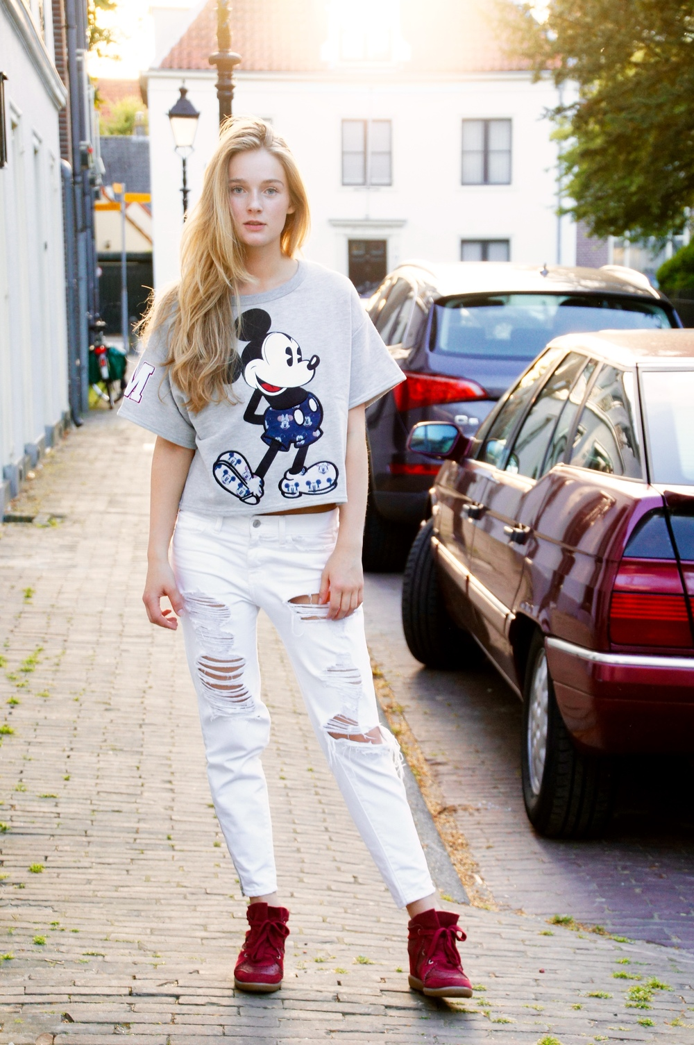 fancy, manners, blog, fancymanners, fashion, paul and joe, sister, mickey mouse, outfit, inspiration, sweater, disney, isabel marant, bobby, burgundy,