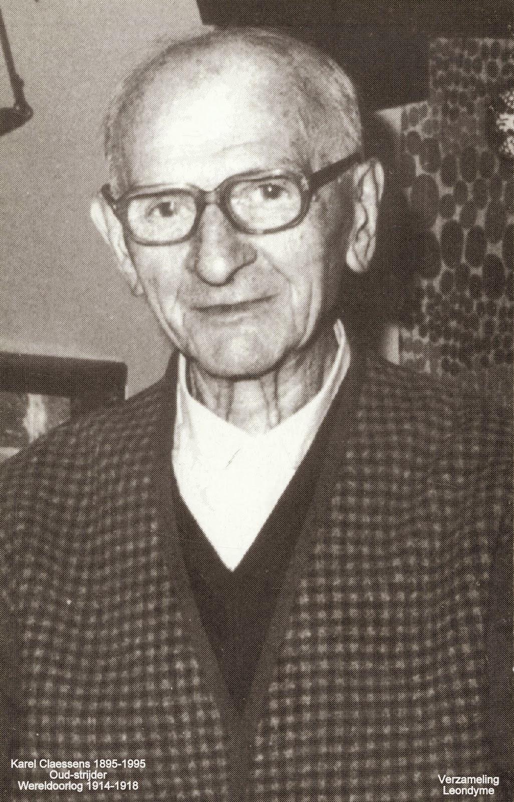 Oud-strijder Karel Claessens 1895-1995. Verzameling Leondyme.