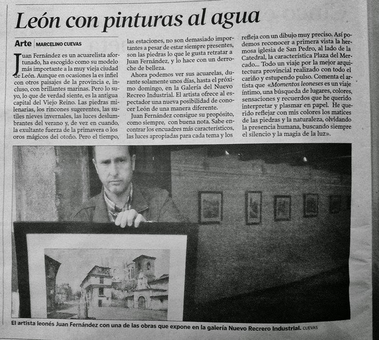 Exposicion de acuarelas en la Sala Torreblanca del Nuevo recreo Industrial.- León 2104.