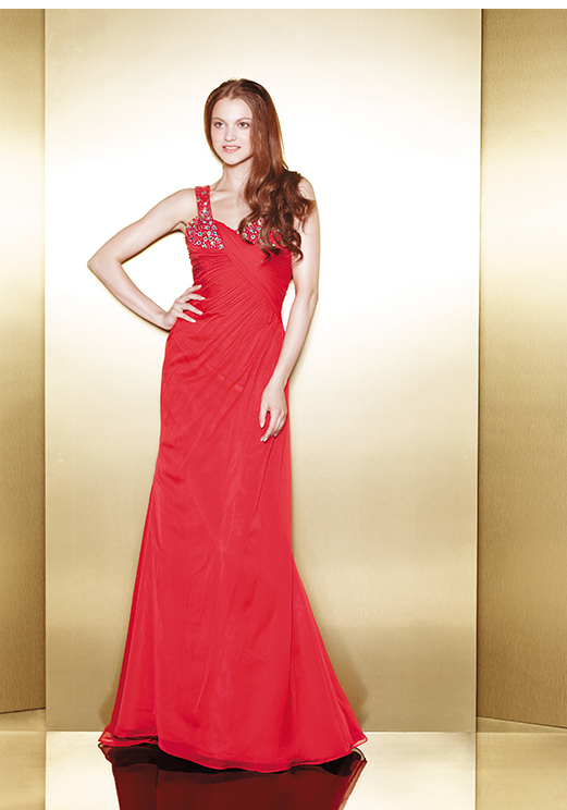 Love 16 Red Long Prom Dresses by Enzoani 2013