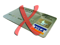 say no to credit card