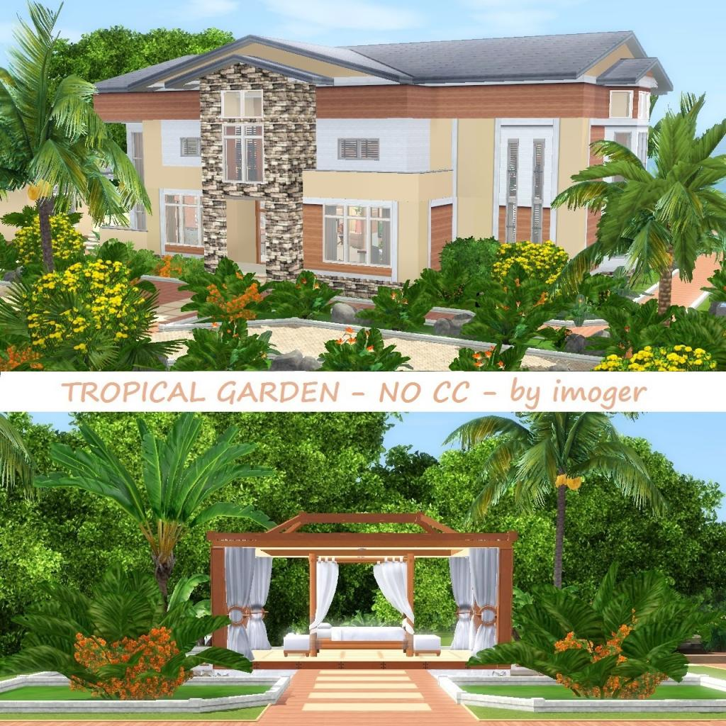 My sims 3 blog tropical garden by imoger for Beach house designs for sims 3