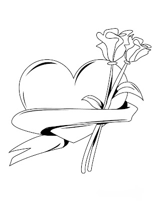 Desenhos Para Colori dia-dos-namorados-12-Junho coração e flores desenhar