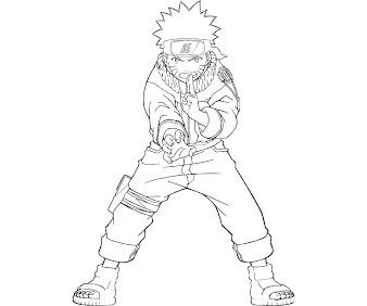 #10 Naruto Coloring Page
