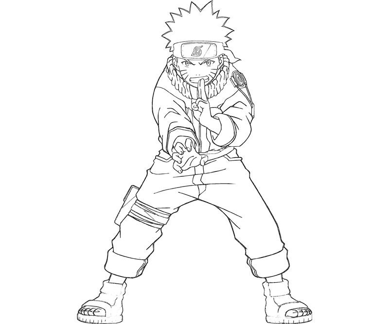 Printable Naruto 1 Coloring Page title=