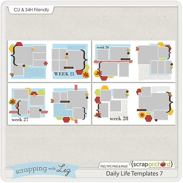 http://scraporchard.com/market/Daily-Life-7-Digital-Scrapbook-Templates.html