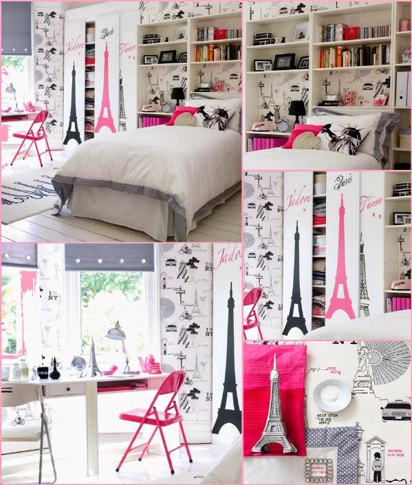 Preferência Fala Pekena: Decoração de quartos Alá Paris YY43