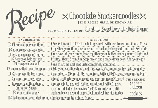Sweet Lavender Bake Shoppe Chocolate Snickerdoodles The Great Food Blogger Cookie Swap 2013