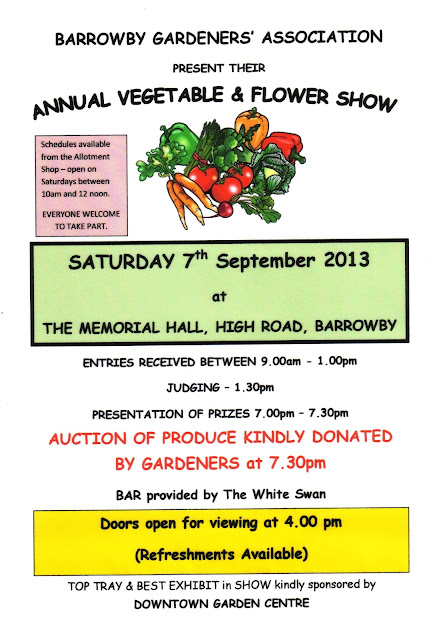 Barrowby Gardner's Association Annual Vegetable and Flower show