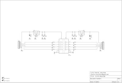 IL715 Digital Isolator PCB, Schematic design