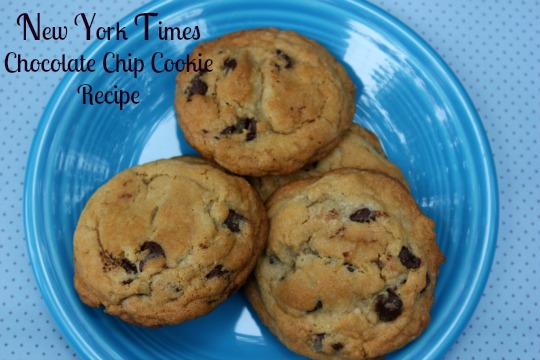 Me and My Pink Mixer: New York Times Chocolate Chip Cookies