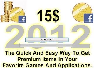 Facebook Credits Generator 2012