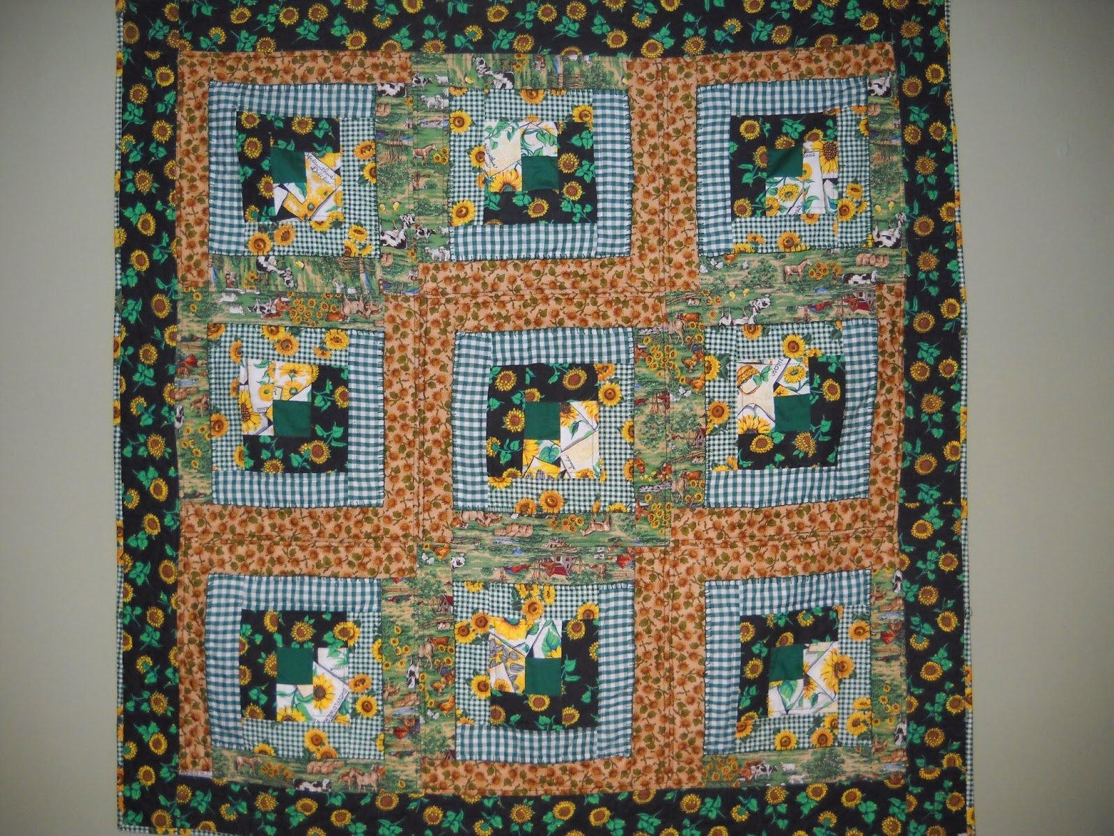 Val S Quilting Studio My Sunflower Memory Quilt