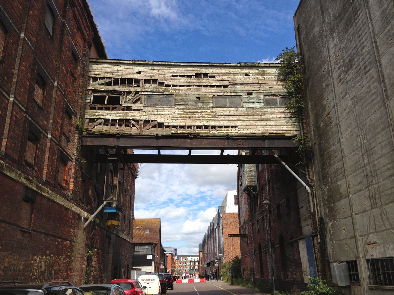 Derelict bridge, Gloucester Docks