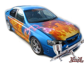 automobile airbrushing