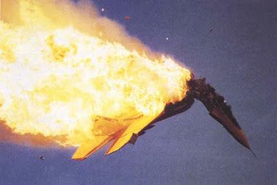 Mig-29 explodindo.