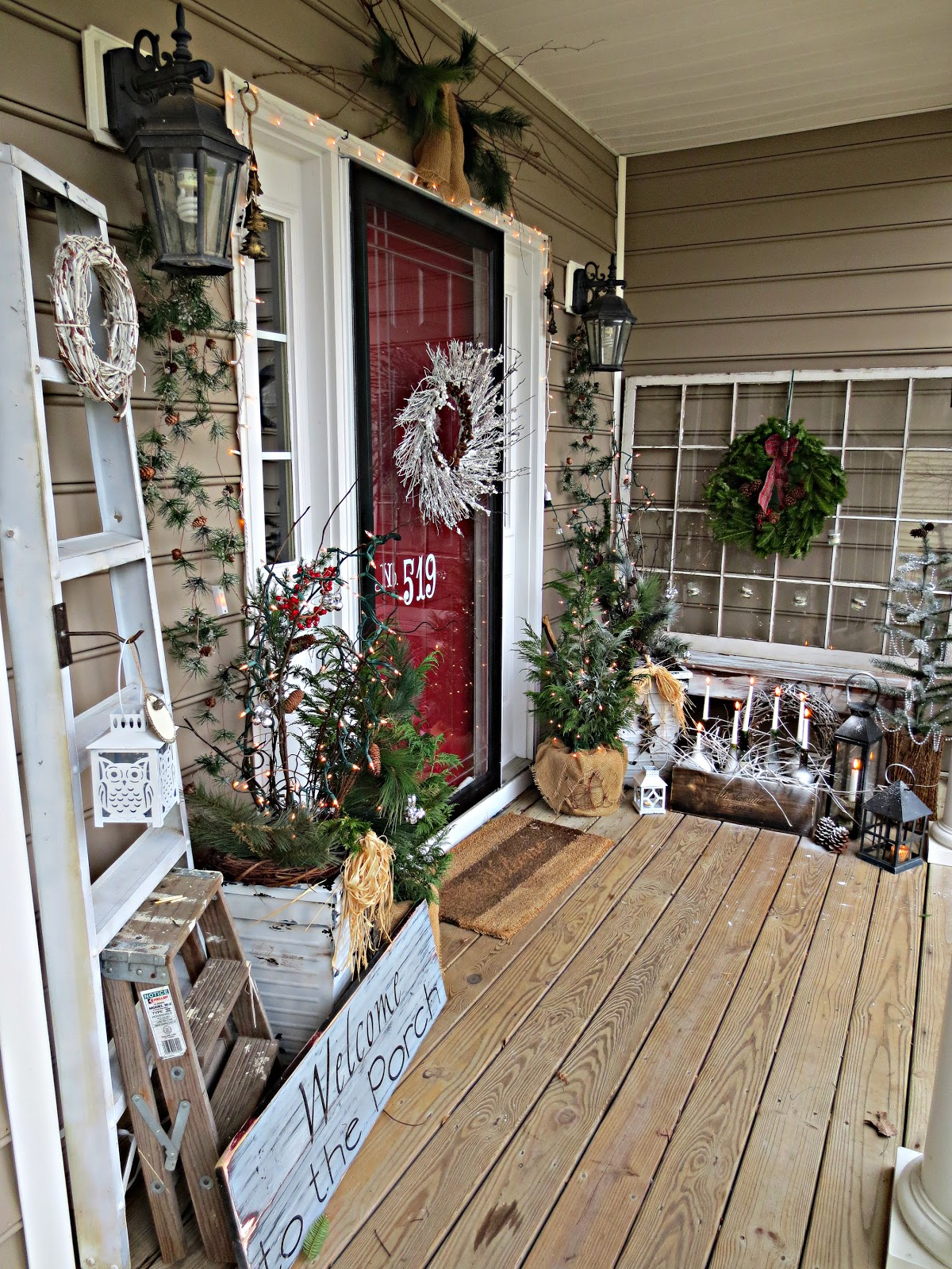 Love the welcome to the porch sign christmas xmas ideas for Outside home decor ideas