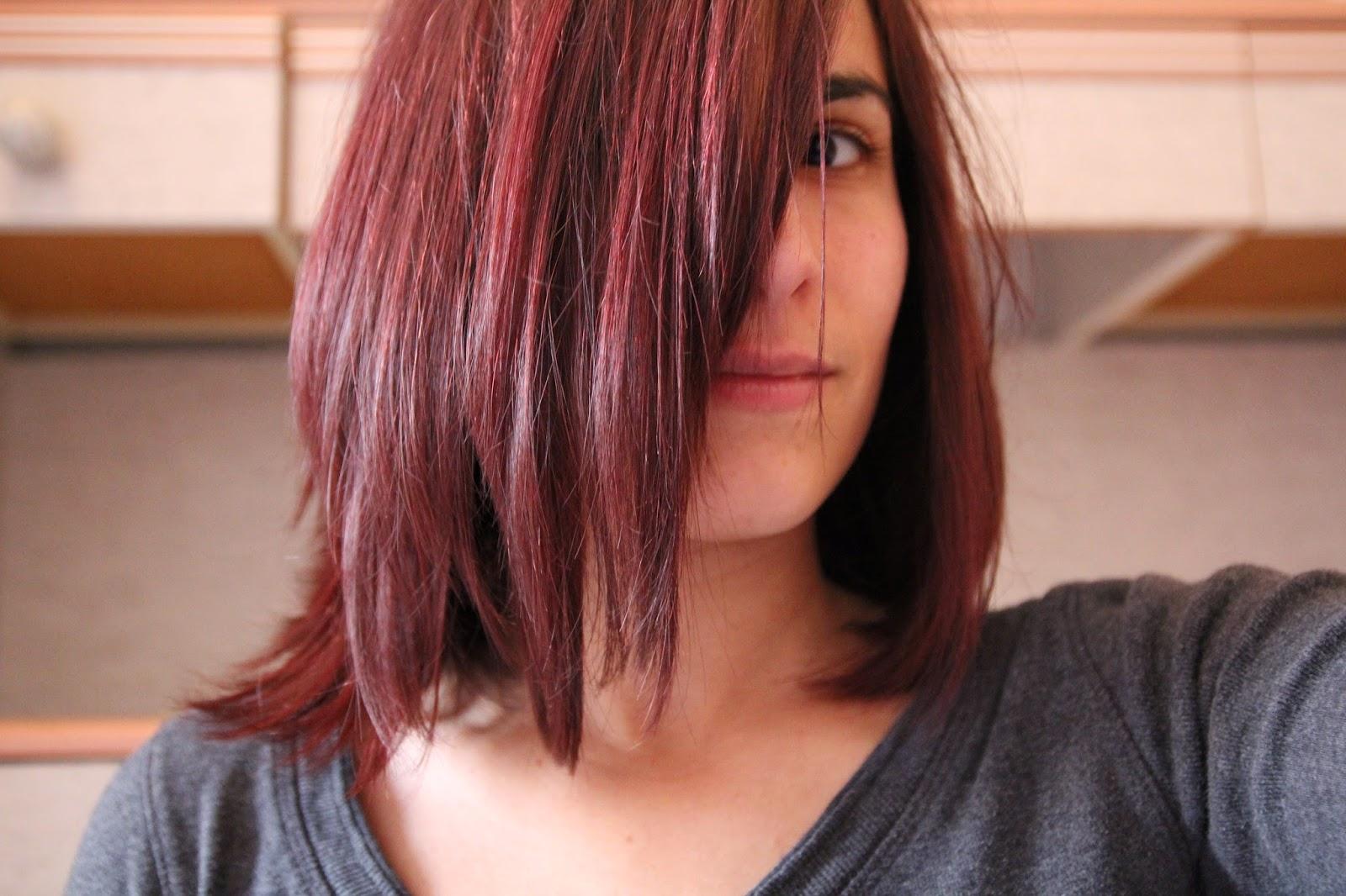 mes cheveux dbut fvrier rose rouge marron la cata le temps dattente tait trs long mais je suis contente davoir russi en une fois - Coloration Logona Chataigne