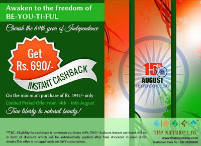 The Nature's Co Independence Day Offer and the Revamped Footcare Kit. image