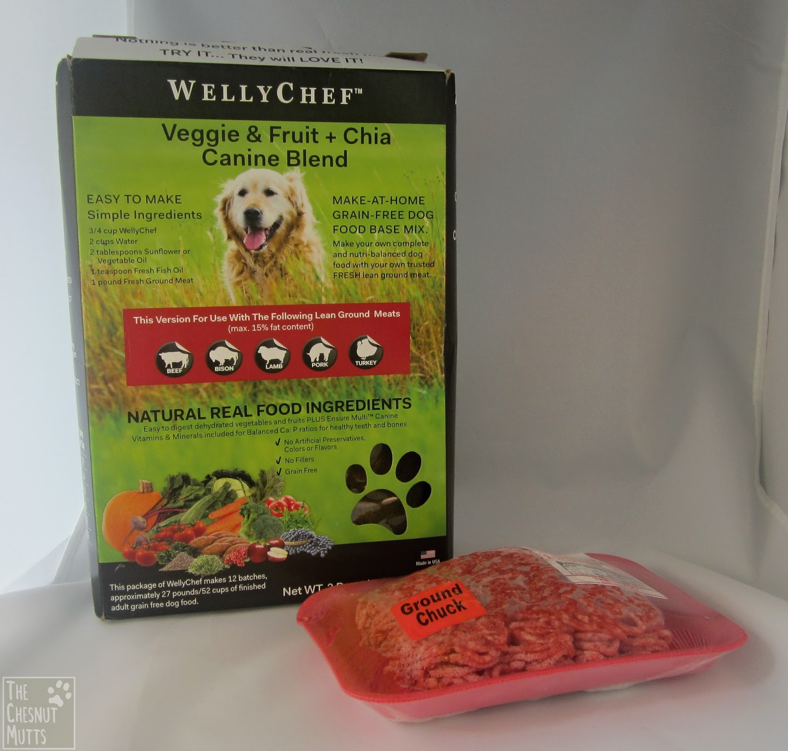 Review giveaway wellychef dog food the chesnut mutts wellychef homemade dog food mix beef bison lamb pork turkey forumfinder Gallery