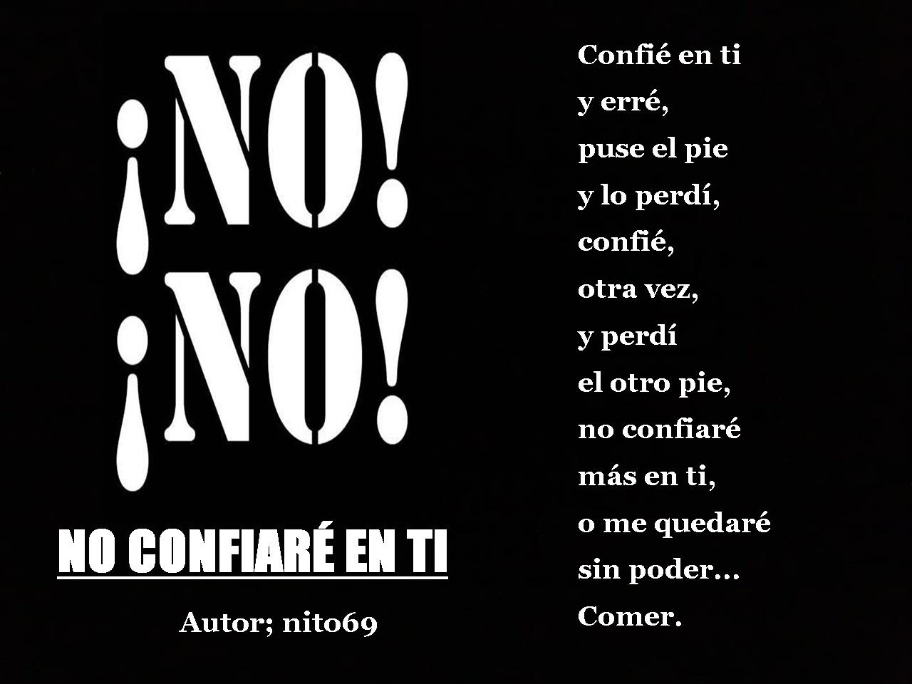 NO CONFIARÉ EN TI