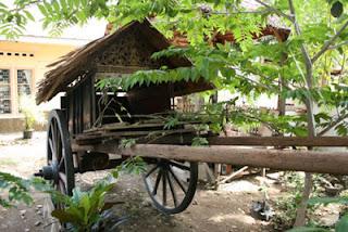 pedati padang yang akan dibuatkan patung kerbau penariknya