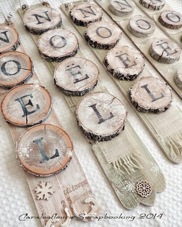 Claralesfleurs scrapbooking des ornements de no l et des - Decoration de noel en bois a fabriquer ...