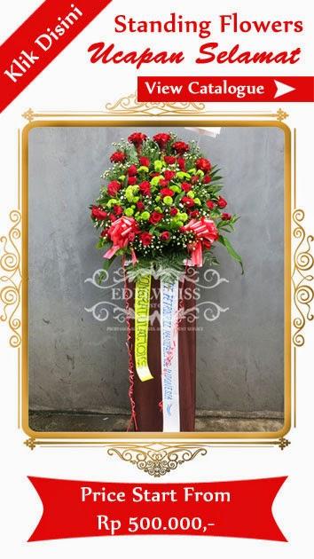bunga standing ucapan selamat