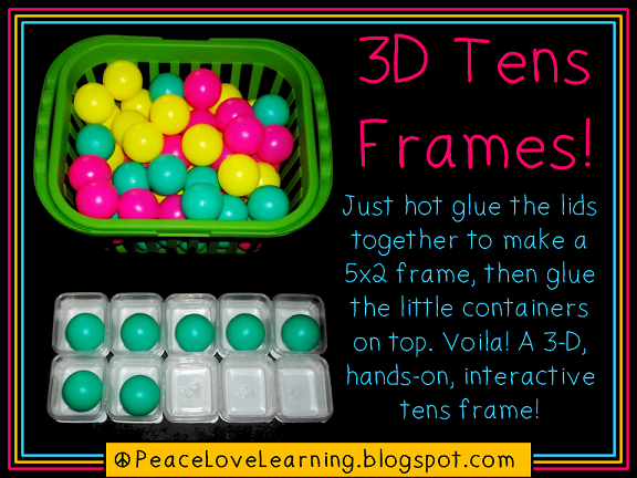 D.I.Y. 3-D Tens Frames from Peace, Love and Learning