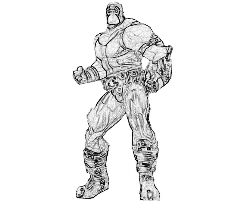 bane from batman coloring pages - photo#15