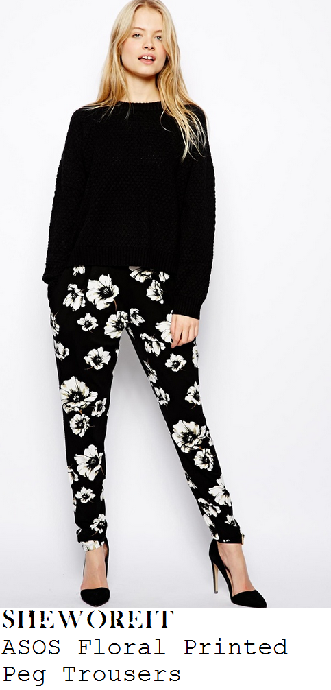 fearne-cotton-black-and-white-floral-graphic-print-peg-leg-trousers-the-one-show