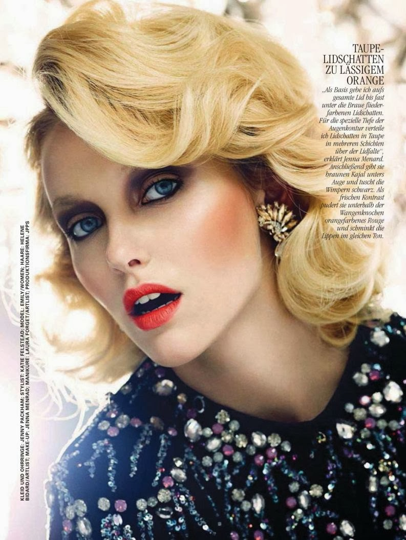 Magazine Photoshoot : Emily van Raay Photoshot For Markus Jans Glamour Magazine Germany February 2014 Issue