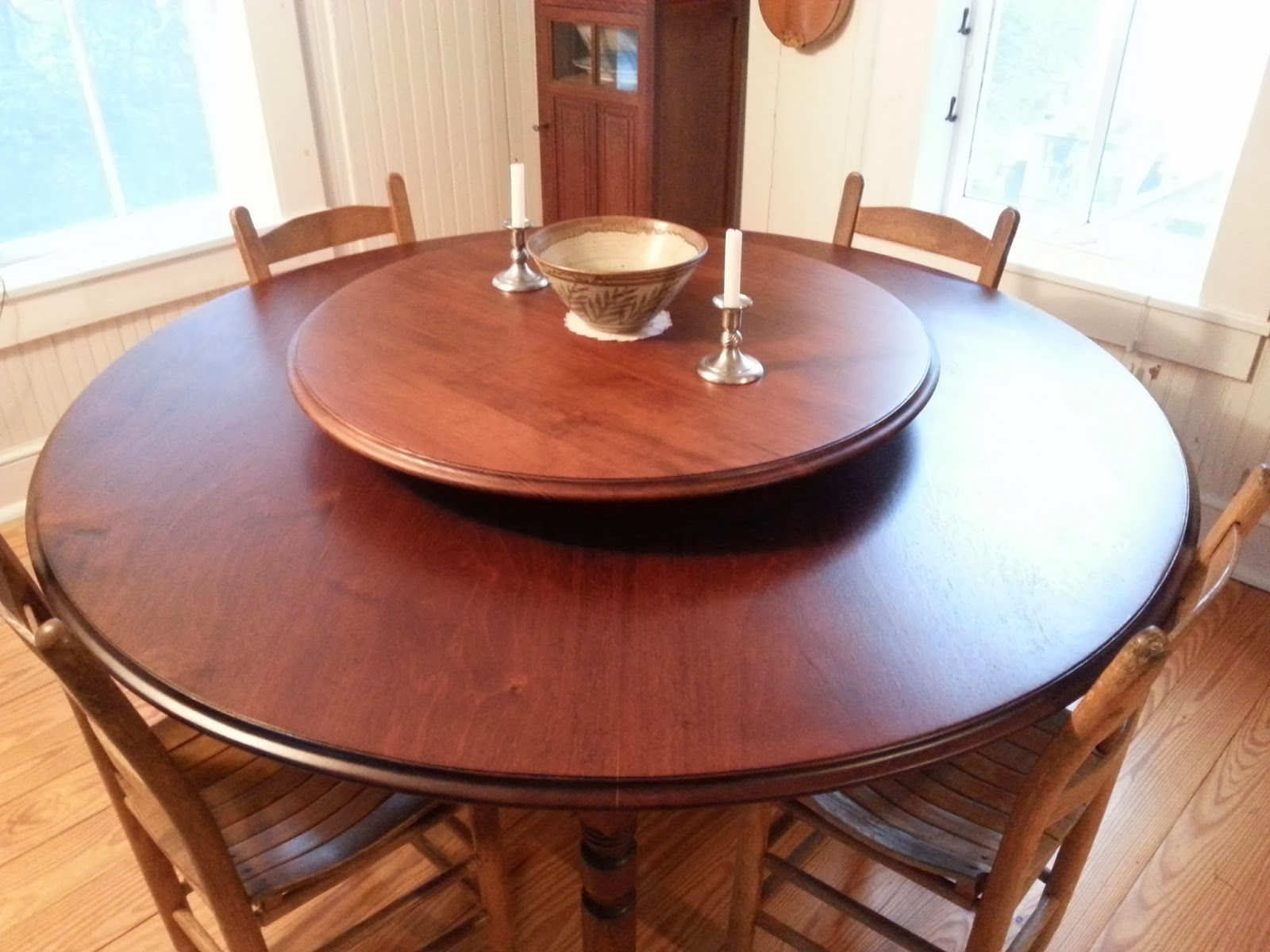 round dining table with lazy susan. In 2011 I Mentioned Lazy Susan Tables My Article About Sam Jones. Wrote, \ Round Dining Table With N
