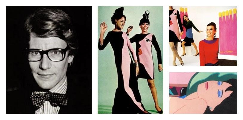 serie arte y moda yves saint laurent wesselmann