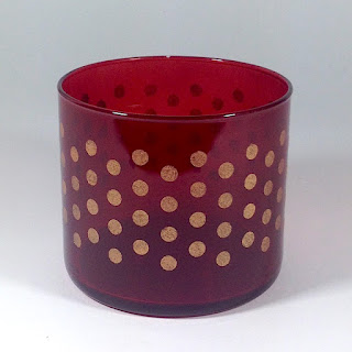 stenciled glass candle holder lisa fulmer