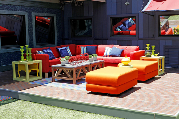 Lovely DO Use Bright Colors And An Eclectic Mix Of Furniture Pieces In Outdoor  Spaces. Ornamental Side Tables And Vases Like The Ones On The Big Brother  Deck Make ...
