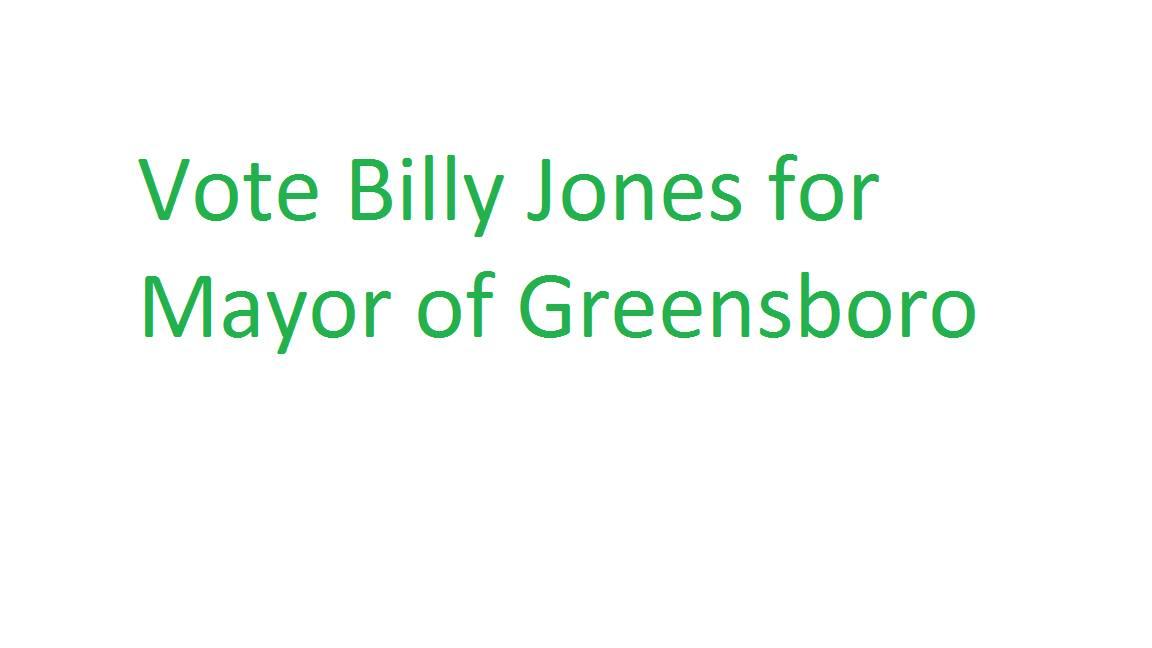 Billy Jones For Mayor