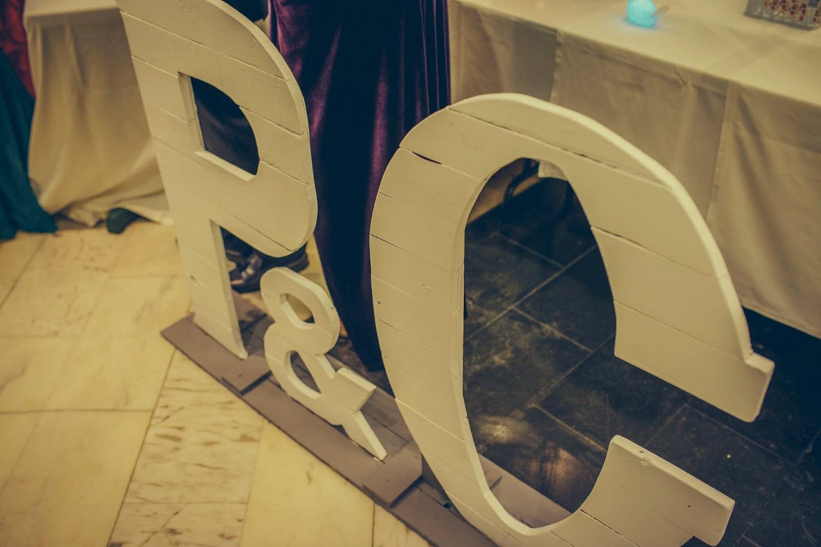 letras de madera boda