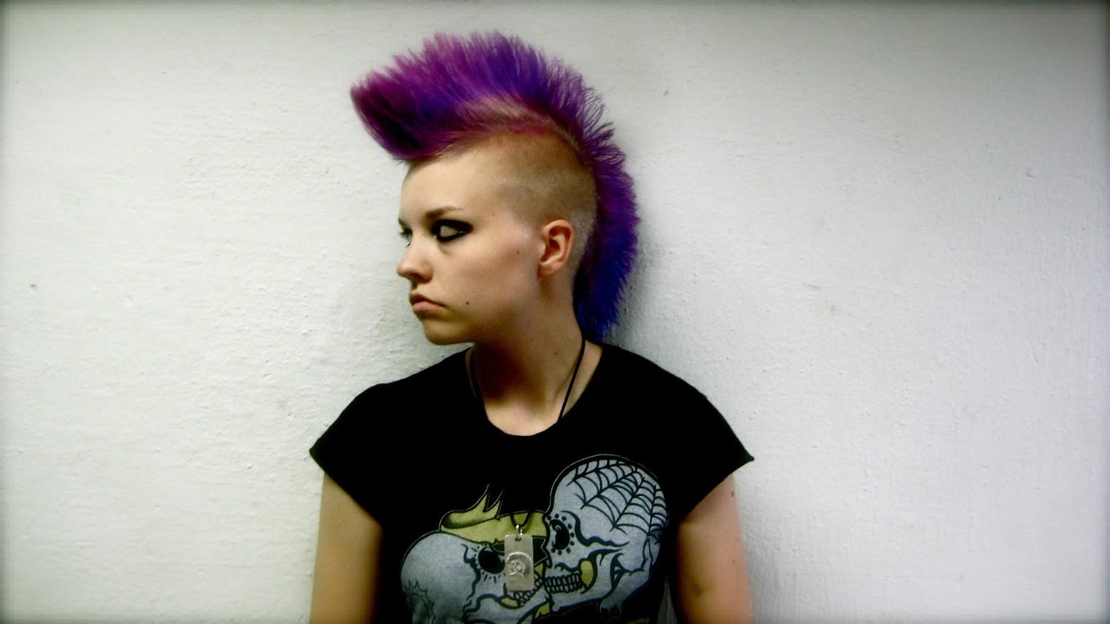 Панк прически для девушек фото