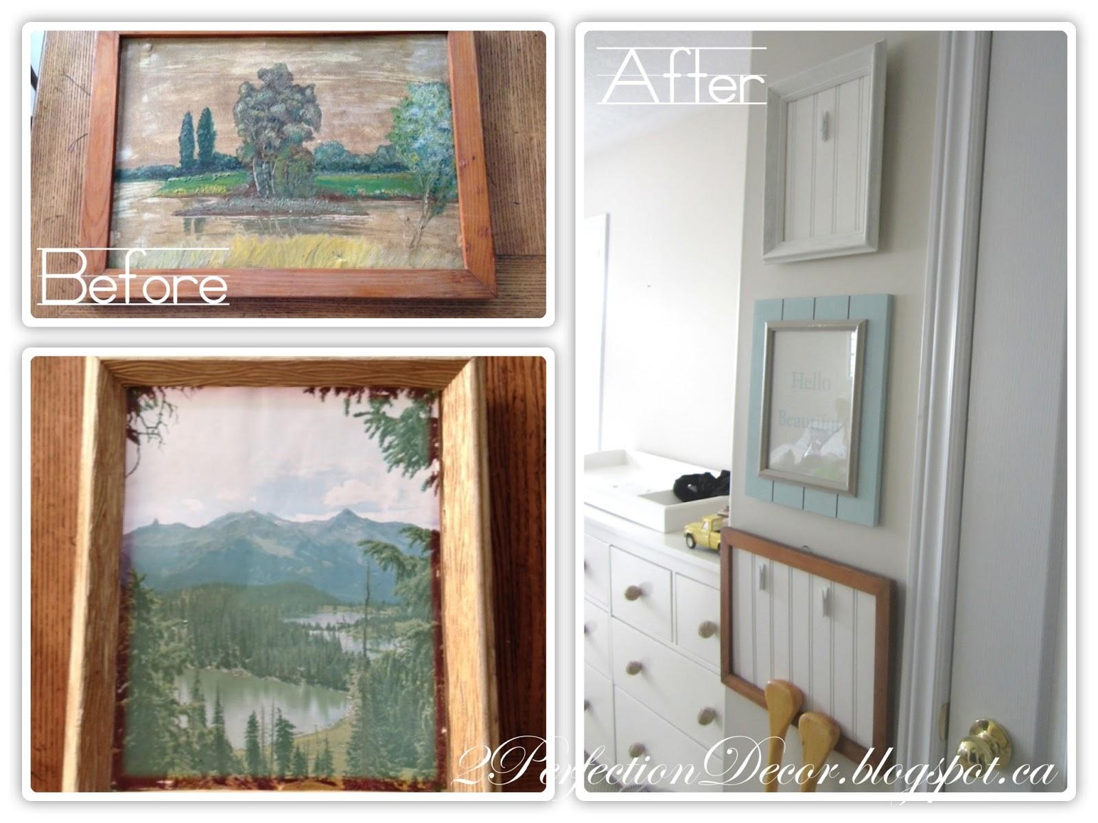2Perfection Decor: Vintage Frames DIY