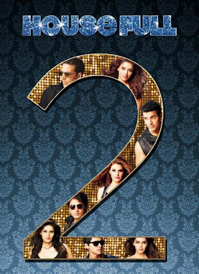 Poster Of Bollywood Movie Housefull 2 (2012) 300MB Compressed Small Size Pc Movie Free Download worldfree4u.com
