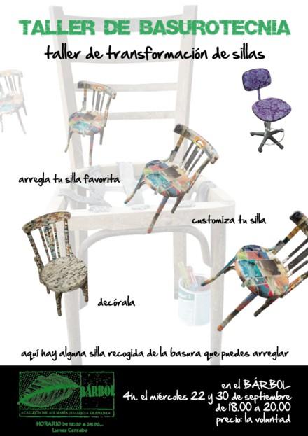 BASUROTECNIA: Cómo arreglar y customizar una silla
