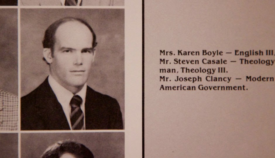 Joe Clancy as a teacher, 1984
