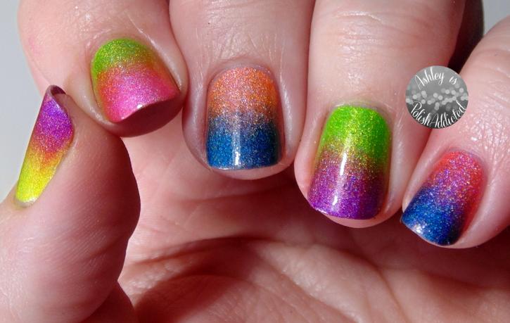 Ashley Is Polishaddicted 13 Days Of January Nail Art Challenge Rainbow