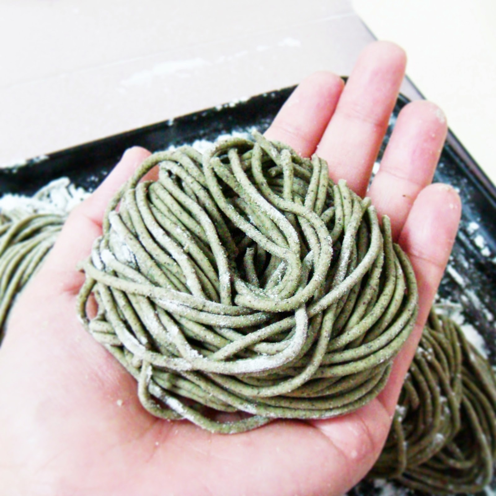 Green tea pasta recipe
