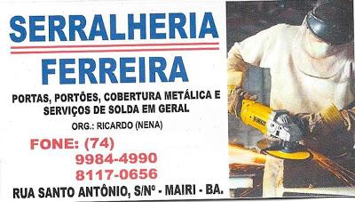 Serralheria e Material para Construção Ferreira.