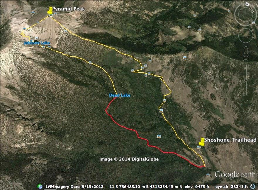Desert Survivor Pyramid Peak Hike Great Basin National Park Nevada - Johnson lake map