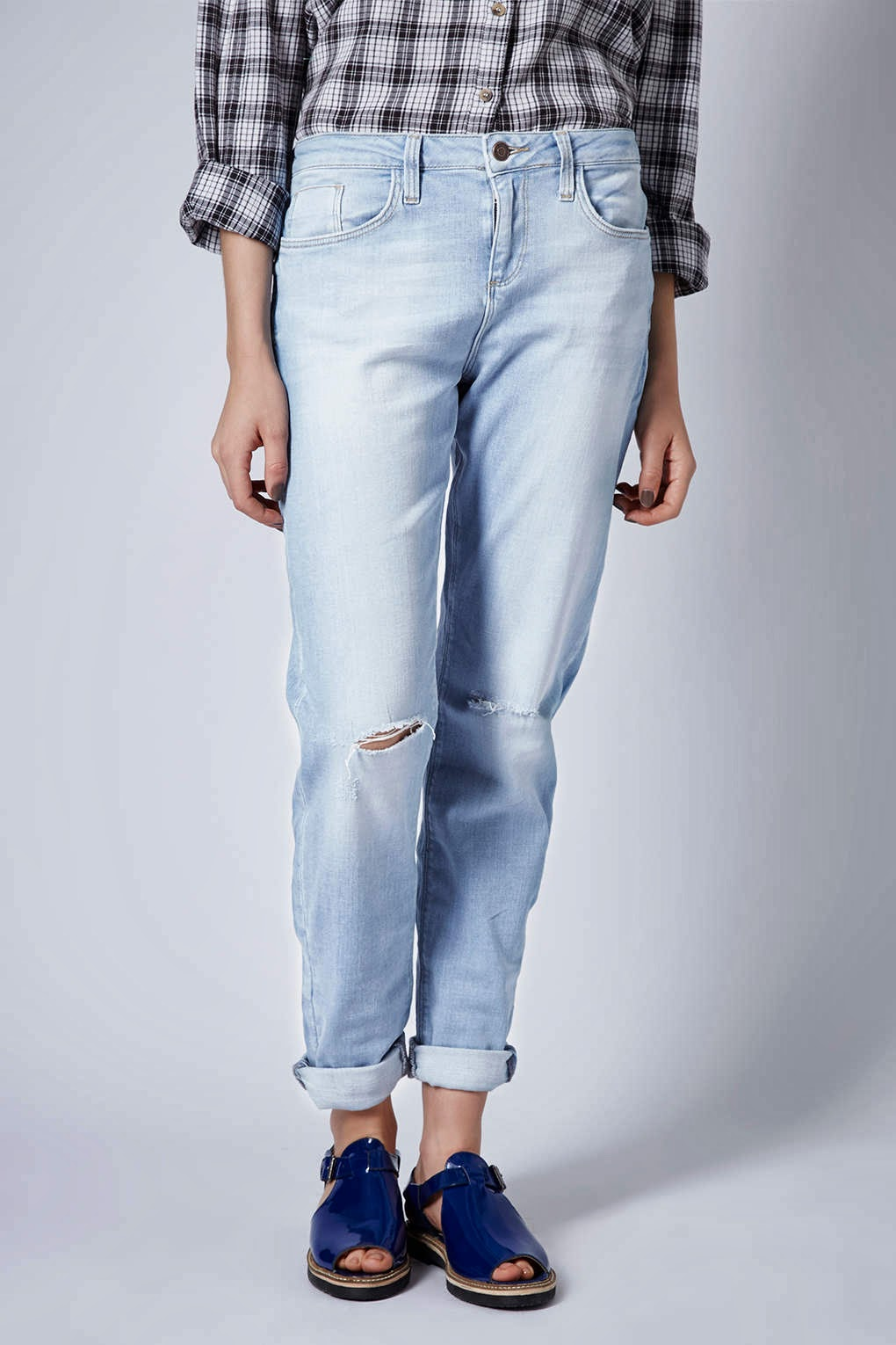 topshop bleached jeans