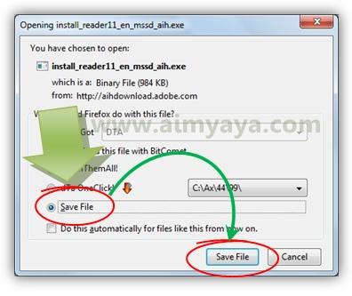 Gambar: Download installer untuk adobe reader